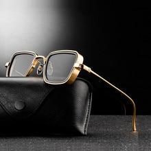 Neue Vintage Metall Steampunk Sonnenbrille Männer Frauen Quadrat Sonne Gläser Für Männer Frauen Stilvolle Retro Marke Shades Männlich-weibliche UV400