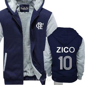 Image 3 - ZICO thick jacket BRAZIL FLAMENGO UDINESE FOOTBALLER LEGEND CAMISETA SOCCERER KASHIMA Men warm coat euro size sbz5100