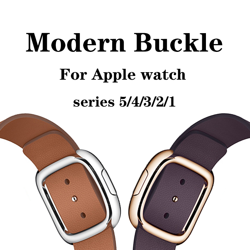 Modern Buckle Strap For Apple Watch 4 5 Band 44mm 40mm Apple Watch 42mm 38mm  Iwatch 5/4/3/2/1 Genuine Leather Watchband