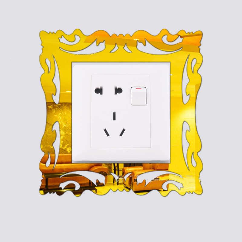 5 шт. 3D-зеркало цветок светильник переключатель объемного звучания стикер крышка рамка Декор Новый