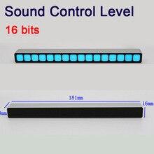 사운드 컨트롤 모노 16 비트 레벨 표시기 LED VU 미터 앰프 보드 램프 라이트 속도 USB 전원 자동차 mp3 용