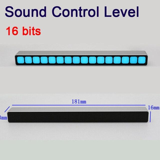 التحكم في الصوت أحادية 16 بت مؤشر مستوى LED VU متر مكبر للصوت مجلس مصابيح ضوء سرعة USB الطاقة لسيارة mp3