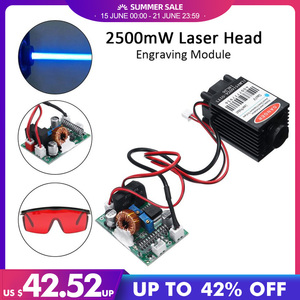 2.5W 450nm Blue Laser Module TTL 12V Focusable High Power + Goggles for CNC Cutting Laser Engraving Machine Woodworking Parts(China)