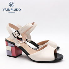 VAIR MUDO 2020 New Fashion Women Sandals Thick Heels Genuine Leather Fish mouth