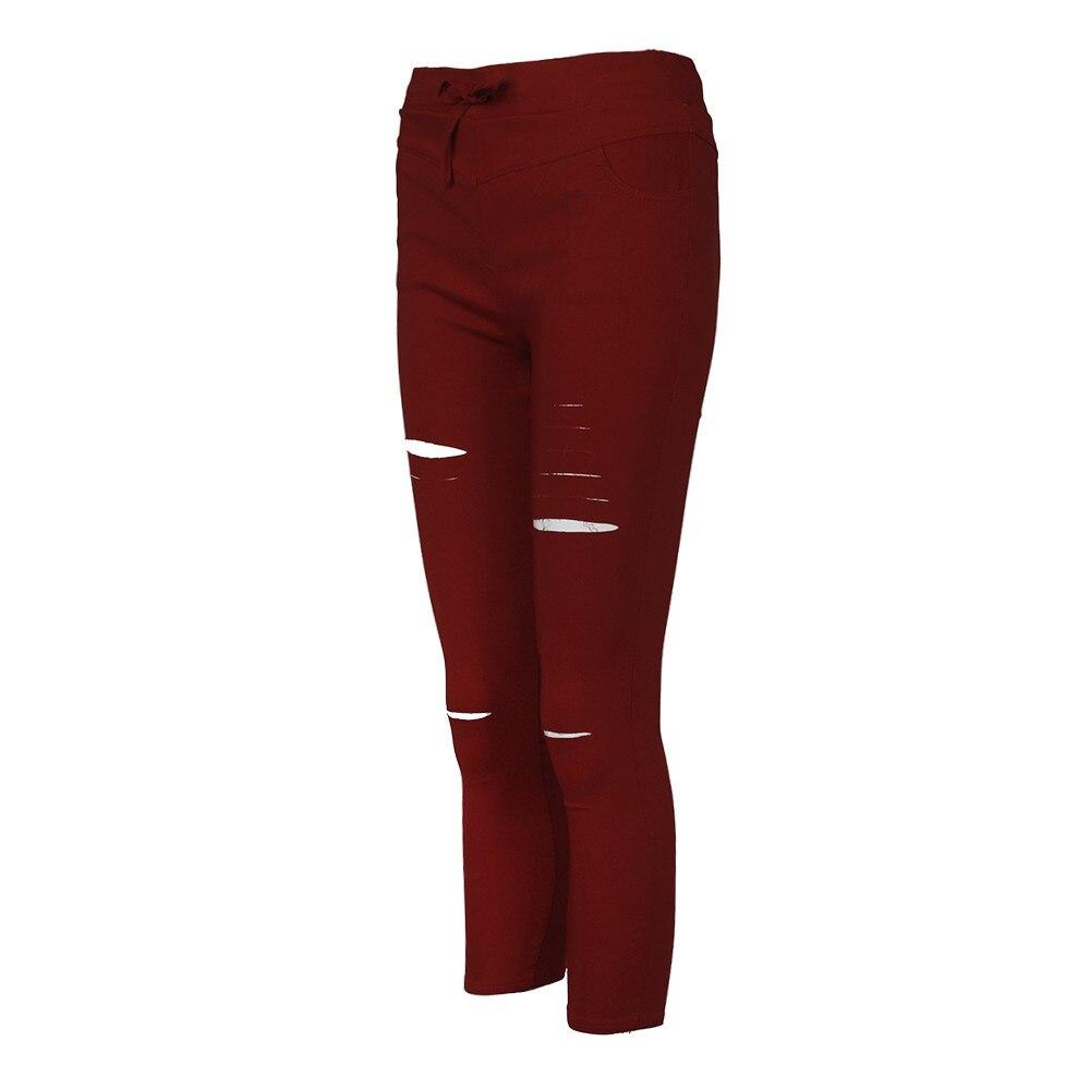 Hf9e7f26ab91a4320aa6567400475adb2k White Jeans Feminino Plus Size Candy Pantalon Femme Black Skinny Jeans Woman Long Pants Large Size Jeans For Women