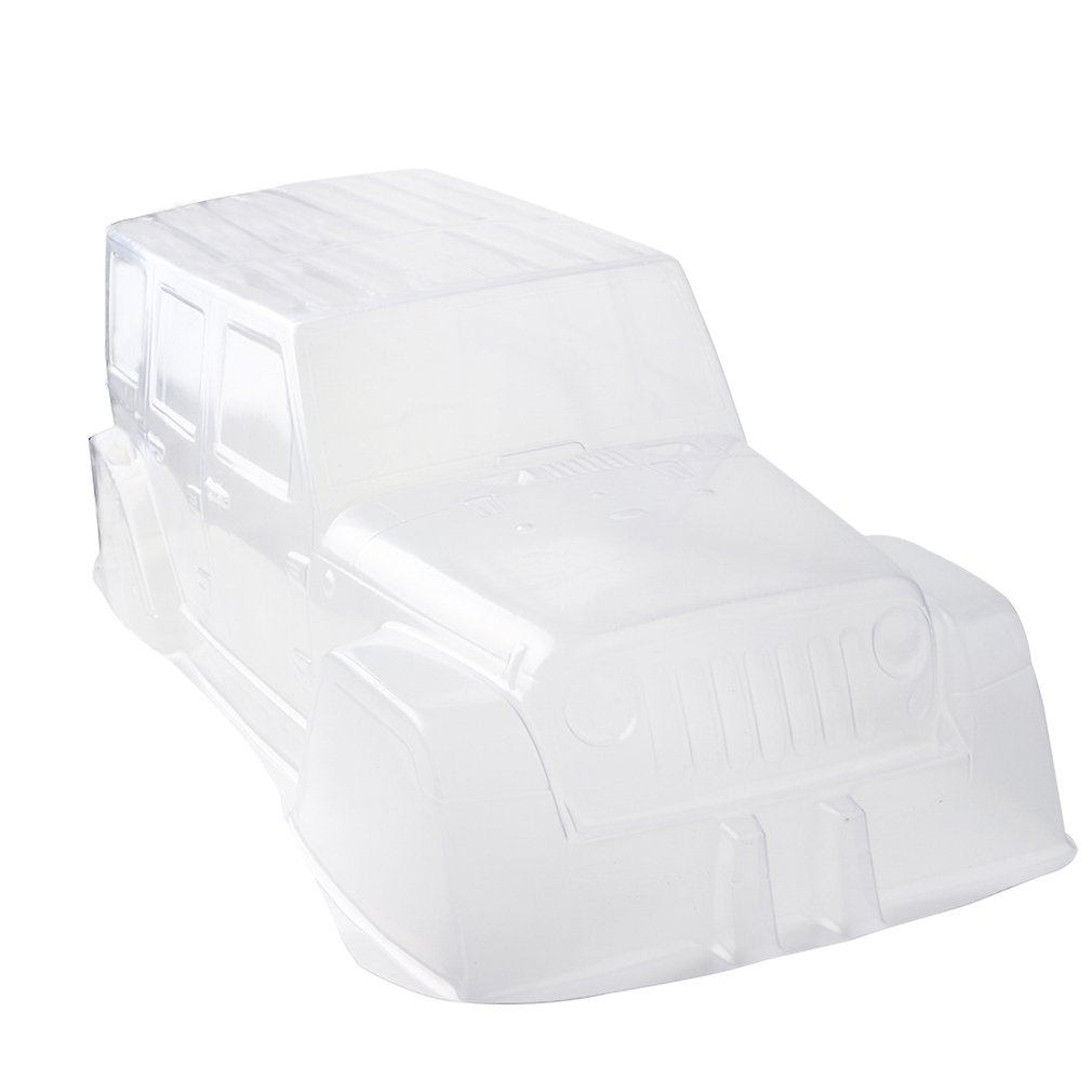PVC Climbing Car Hard Plastic Transparent Body Shell 313 Axle Base For 1:10 Scale RC Crawler Car SCX10 D90 Accessories