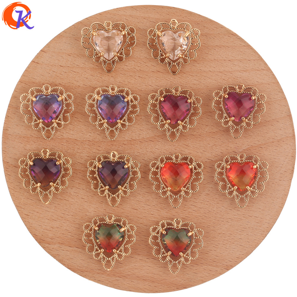Cordial Design 30Pcs 19*19MM Jewelry Accessories/Hand Made/Crystal Charms/Heart Shape/Pendant/Earring Findings/DIY Making