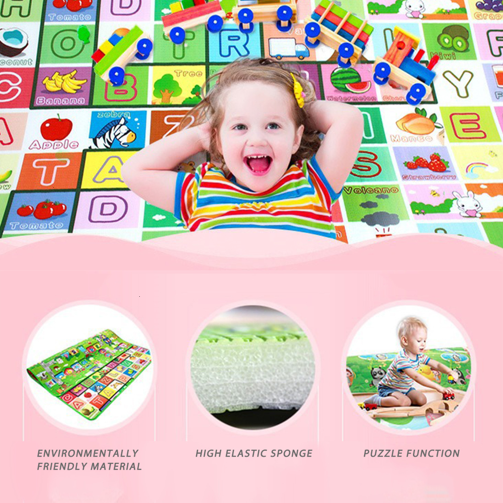 0.5cm Baby Play Mat Developing Mat Eva Foam Baby Play Mat Double Surface Foldable Puzzle Activity Gym Carpet Crawling Mat | Happy Baby Mama