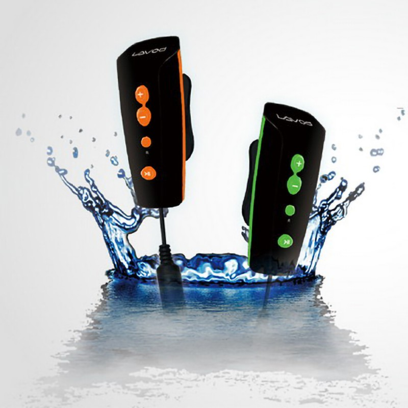 Rechargeable 8GB Swimming Diving Outdoor Waterproof Sports MP3 With Back Clip Underwater MP3 360 Degree Rotation Back Clip