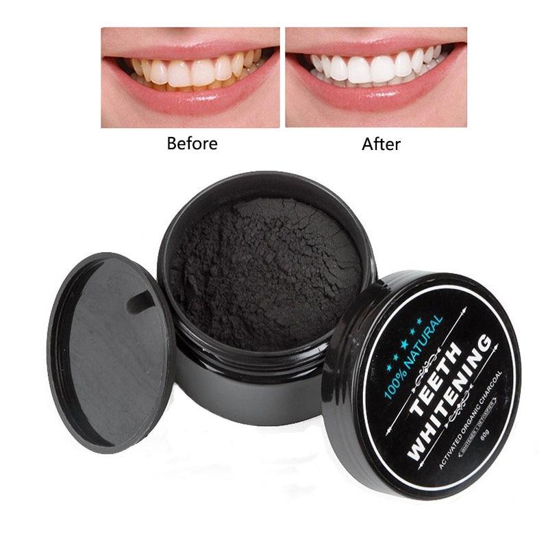 Отбеливания зубов с активированным углем порошок зубная паста сильно отбеливающий зубной порошок гигиена полости рта для чистки Уход за по...