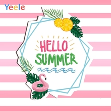Yeele Summer Party Photocall Flamingo Surf Stripes Photography Backdrops Personalized Photographic Background For Photo Studio