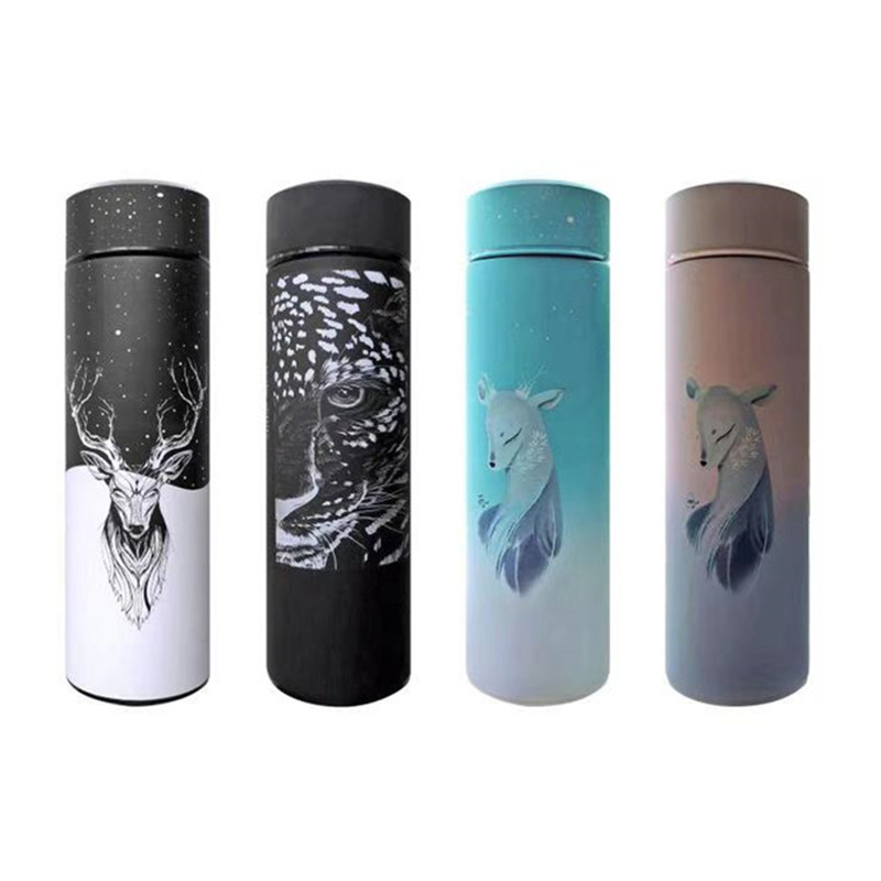 Thermos Flask Bottle 350ML 450ML vacuum Thermo Cup,Stainless Steel Vacuum Flask Insulated Bottle Container,Outdoor Travel Cup