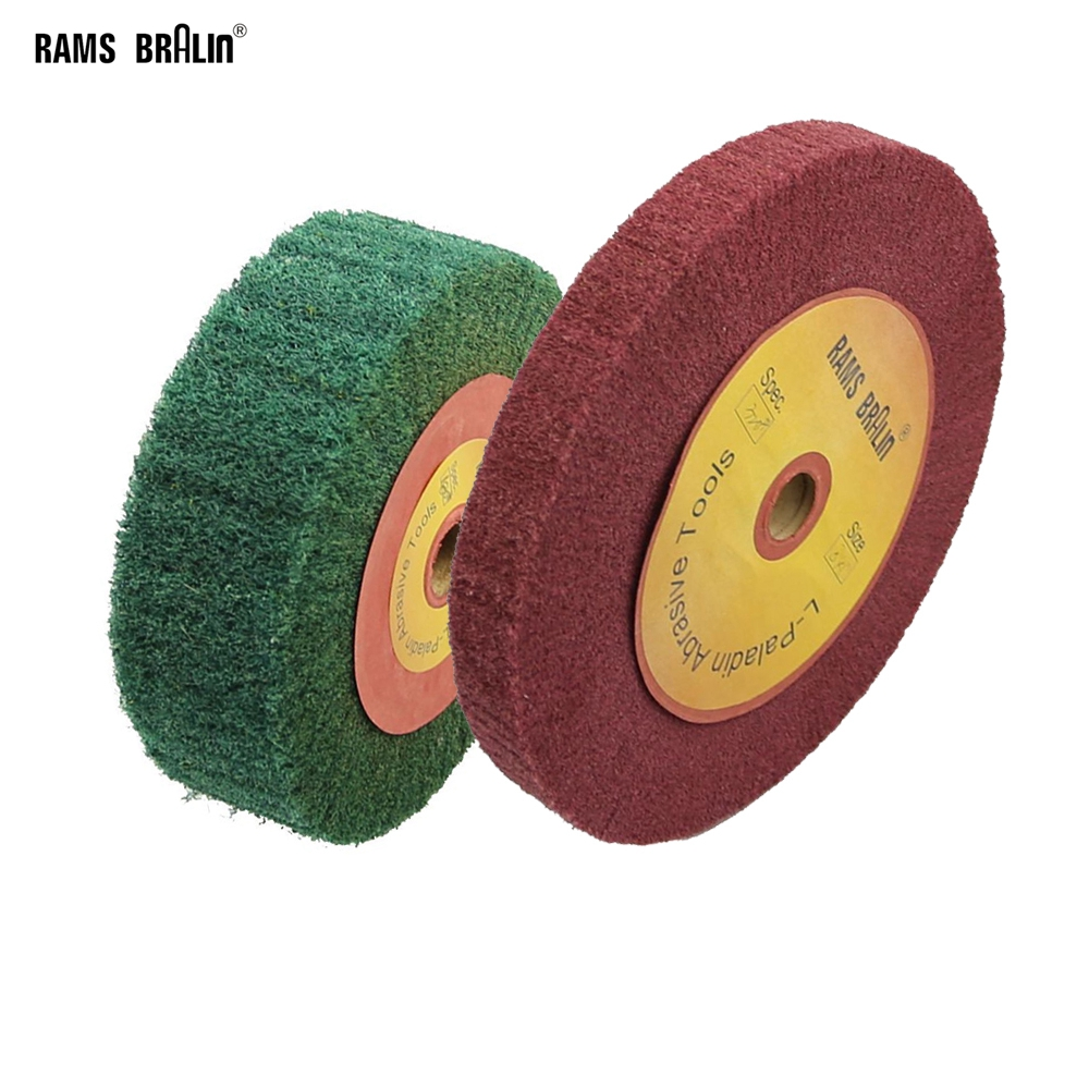 1 piece 150/200/250mm Scotch Brite Mop Polishing Wheel Non woven Flap Brush|brush outlet|wheel badge|wheel plugs - AliExpress