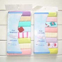 8pc bebê saliva toalha de algodão lenço pano de limpeza toalha menino menina alimentação recém-nascido 21x21cm enfermagem babador desenhos animados cachecol
