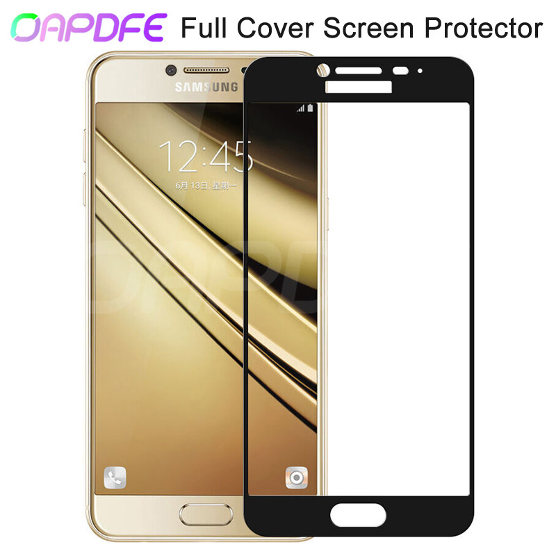 9D Full Cover Protective Glass on For Samsung <font><b>Galaxy</b></font> A3 <font><b>A5</b></font> A7 2016 2017 A6 A8 Plus A9 <font><b>2018</b></font> Tempered <font><b>Screen</b></font> Protector Glass Film image