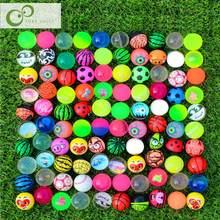 10 pçs engraçado brinquedo bolas misturadas bouncy bola sólida flutuante saltando criança bola de borracha elástica pinball bouncy brinquedos 25mm/30mm zxh