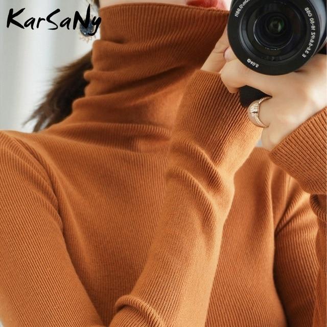 Women's Sweater Winter Clothes Women 2020 Black Turtleneck Sweaters Winter Warm Turtlenecks For Women Pullover Sweater Autumn 1