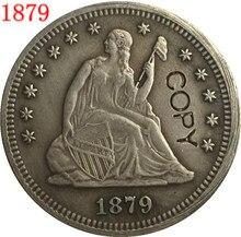 Stany zjednoczone 1879 wolności w pozycji siedzącej kwartał DOLLARS skopiować monety