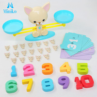 Up Puppy Piggy Cute Math Number Digital Balance Montessori Toys Desk Digital Arithmetic Board Games Kids Interactive Figures Toy