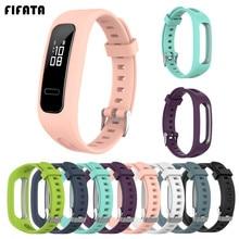 Fifata Zachte Siliconen Armband Polsband Voor Honor Band 4 Running Versie Smart Horlogeband Voor Huawei Band 3E / 4E polsband