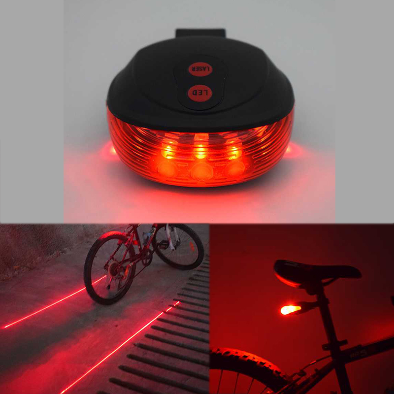 New Bike Light Laser Beam Bicycle Accessories Cycling Tail Rear Light Safety Warning Lamp luces led bicicleta