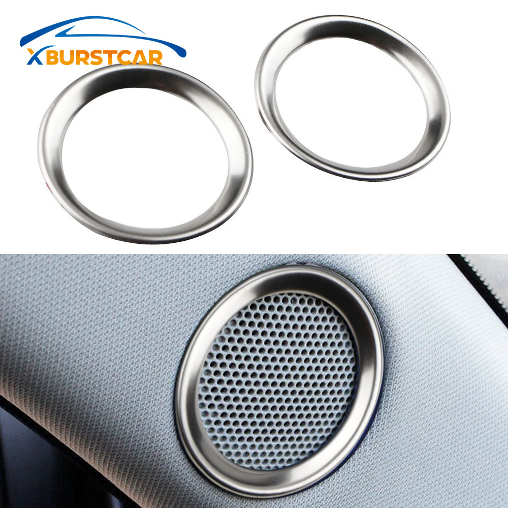 Xburstcar For <font><b>Mazda</b></font> <font><b>CX</b></font>-<font><b>5</b></font> CX5 2017 - 2019 Speaker Sound Ring Trim Cover Stainless Steel Decoration <font><b>Interior</b></font> Mouldings <font><b>Accessories</b></font> image