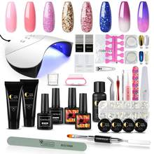 Pro Poly Gel Kit With Nail Polish UV Gel Full Manicure Set Nail Set UV Led Lamp Quick Building Hard Jelly For Nail Extension Kit(China)