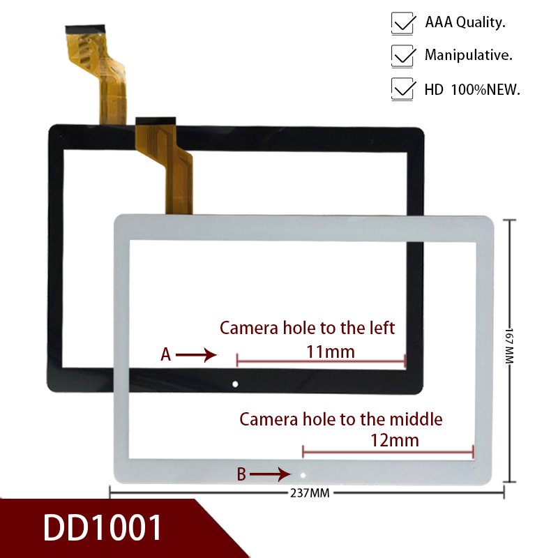 10. 1 Inch New Oberi 8s Original Flat Panel Touch Screen Capacitance Screen Handwritten Outer Screen Code DD1001  Free Shipping