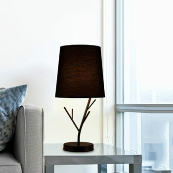 Modern Iron Fabric Table Lamp Simple Desk Lamp LED Table Lamps for Living Room Bedroom Lamp Bedside Lamp Home Deco Light Fixture