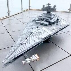 In Stock 75252 Star Wars Imperial Star Destroyer Officer &Crewmember Figure Building Blocks 4786pcs Bricks Toys StarWars