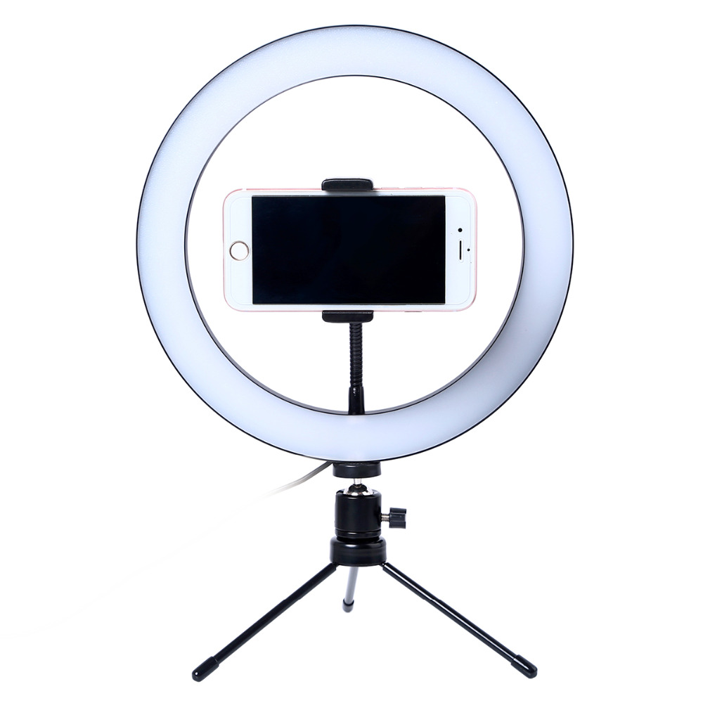 10 Inch 26cm Mobile Phone Led Selfie Ring Light With Tripod Ring Light For Phone Youtube Video Camera Live Studio Make Up Lamp