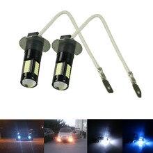 2 uds nuevas bombillas LED de repuesto H3 de alta potencia para luces antiniebla de coche, luces de circulación diurna, lámparas DRL 12 V blanco ámbar azul hielo