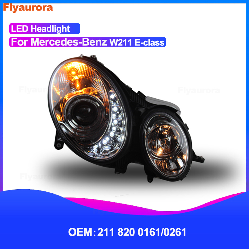 Car Styling Head Lamp for W211 E240 E280 <font><b>W212</b></font> E-class E180 E200L E260L E300 E320 E350 LED Headlamp LED <font><b>Headlight</b></font> HID Xenon Beam image