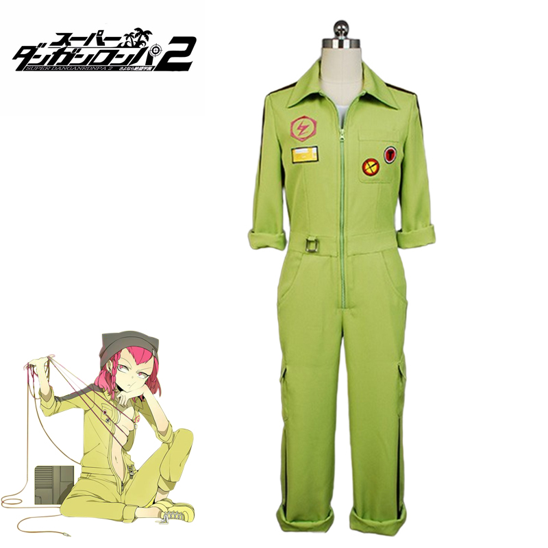 Anime Cosplay Super DanganRonpa2 Kazuichi Souda Cosplay Costume Full Set Outfit Men Women Jumpsuit  Halloween Costumes For Man