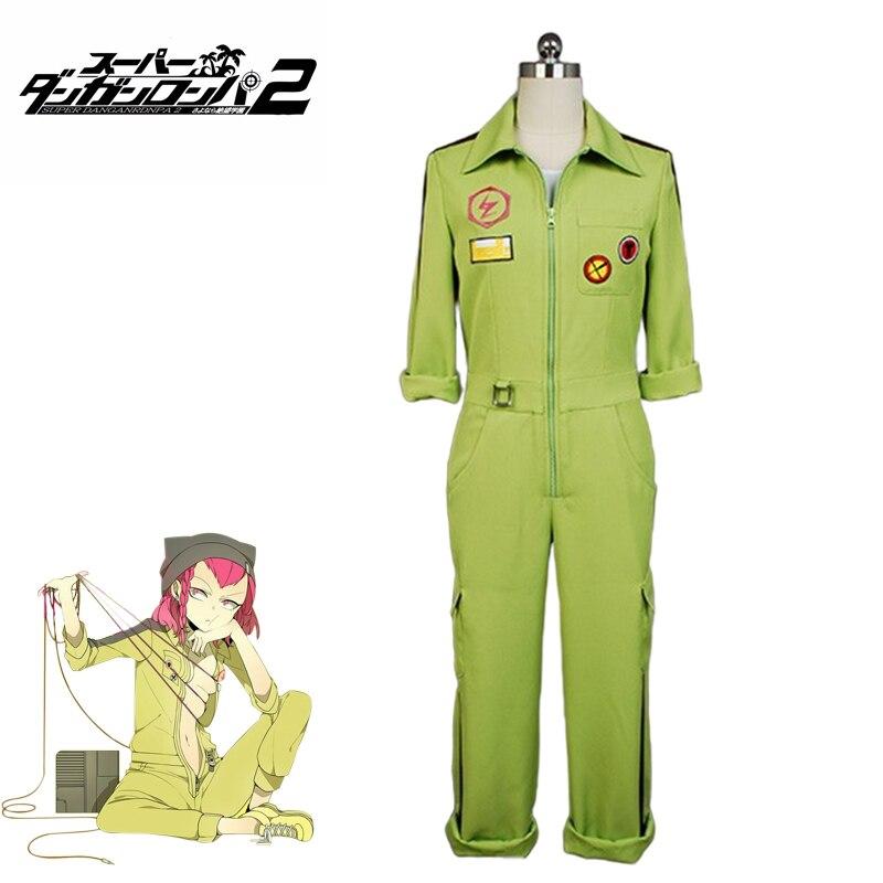 Anime Cosplay Super DanganRonpa2 Kazuichi Souda Cosplay Costume Full Set Outfit Men Women Jumpsuit  Halloween Costumes For Man