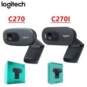 Original Logitech C270/C270i/C310/OEM HD Webcam 720p HD Built-in Mic Web Camera USB2.0 Free drive Webcam for PC Chat Camera