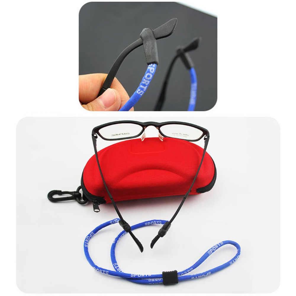 ยืดหยุ่นสายแว่นตาปรับแว่นตา Lanyard คอ String ยึดสายไฟสายคล้องแถบแว่นตาเชือก 122 A30