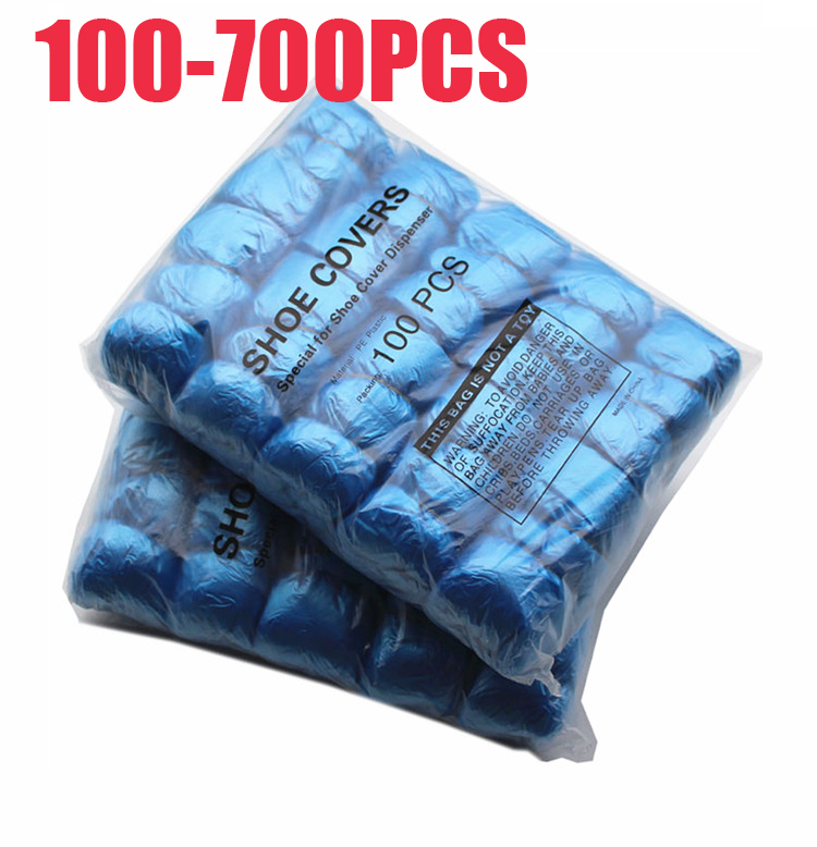 700-100PCS T Buckle PE Shoe Cover Machine Shoe Cover Disposable Convenient And Comfortable Model House High Quality Shoe Cover