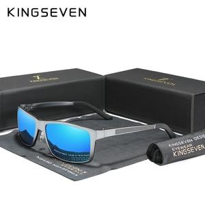 Image 2 - KINGSEVEN 2020 erkek güneş gözlüğü alüminyum magnezyum polarize sürüş ayna gözlük erkekler için/kadın UV400 Oculos