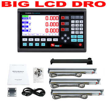 Complete 3 Axis Dro Kit Set Big LCD Display Digital Readout Controller with 3pcs 5U Linear Scale Linear Optical Ruler 50 to 1000 - DISCOUNT ITEM  9% OFF All Category