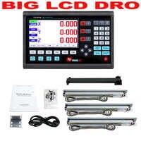 Ensemble complet de Kit Dro à 3 axes grand écran LCD contrôleur de lecture numérique avec 3 pièces règle optique linéaire à échelle linéaire 5U 50 à 1000