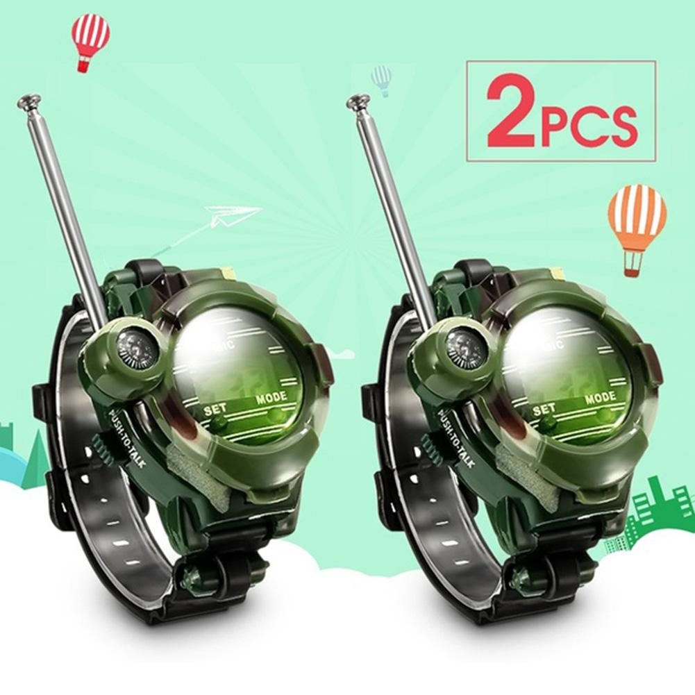 2Pcs 7 In 1 Kids Children Toys Girls Boys Watches Interphone Outdoor Games Toys Walkie Talkie 26*4*6cm