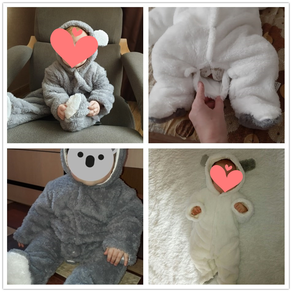 ALI shop ...  ... 33031280770 ... 4 ... Orangemom official Newborn Baby Winter Clothes Infant Baby Girls clothes soft fleece Outwear Rompers new born -12m Boy Jumpsuit ...