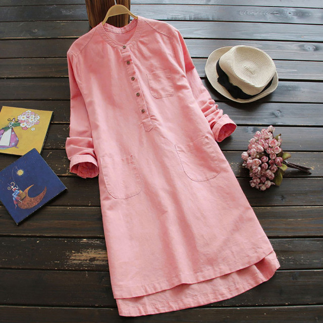 Nice  casual long Shirt dress, goes with anything 2