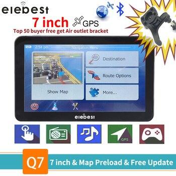 Elebest gps navigation 7 pouces écran tactile Gps navigateur voiture véhicule camion GPS gps Gps navigation BHT en option Europe 2019 cartes mise à niveau gratuite