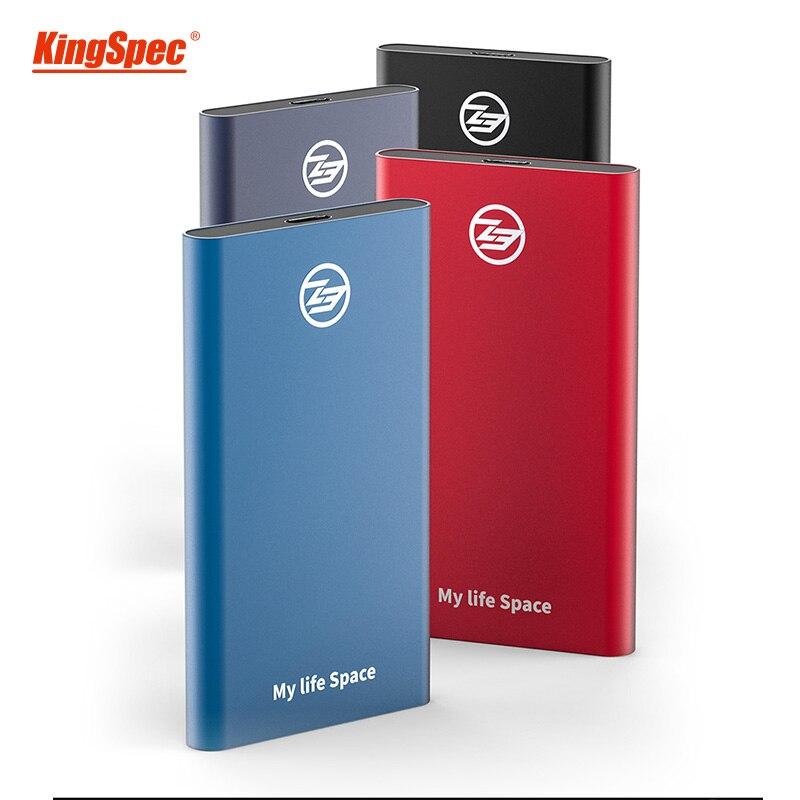 Disque dur Portable KingSpec SSD Hdd disque dur externe SSD 1 to USB 3.1 type-c Usb 3.0 hd externo 1 T pour ordinateur de bureau