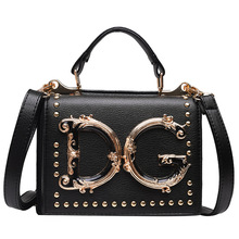 Luxury Designer Leather Women Crossbody Bags Fashion Metal Rivets Flap Purses And Handbags Women Casual Shoulder Messenger Bag