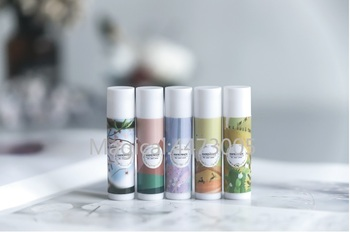 12/36/108 Pcs PVC Label Colorful Lipstick Sticker Cherry Blossoms Yellow Red Purple Empty Lipstick Tube Lip Balm Bottle