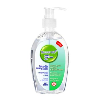 1 Piece 200ml Gel Hand Sanitizer 75% Alcohol Universal Disinfectant Hand Wash Gel Antibacterial Hand Sanitizer