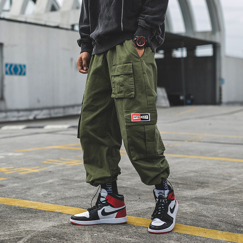 2019 Spring Clothing Exterior Origional Bags Workwear Ankle Banded Pants